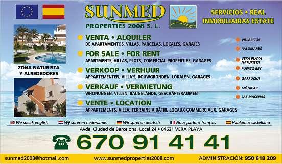 Vera Playa : apartamentos en venta y en alquiler - Nous avons une grande sélection d'appartements à vendre.. Son équipe possède de nombreuses années d'experience avec le meilleur service. n'Hésitez pas a contacter Viviane au (0034)670914141
