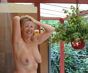 Lovely outdoor showers