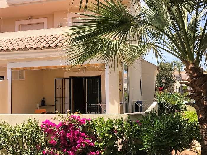 Mooi gelijkvloers appartement in naturistendorp Vera Playa te huur