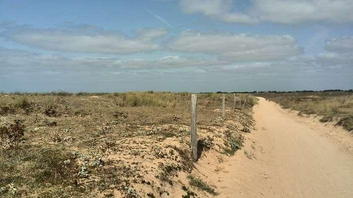 La Pinede: Club Naturiste Bretagne Sud - Holger - Der Radweg zum Strand