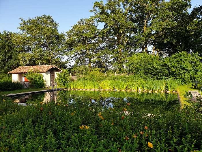 Door - Domaine naturiste Petits-fours - Bosplek - Terrein - Zwembad
