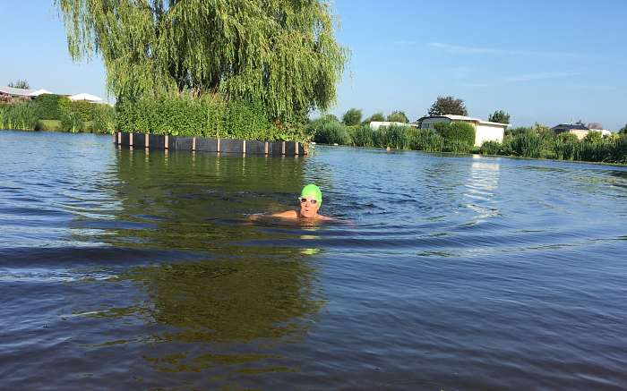Terry &amp Val - Naturisten Vereniging Hellevoetsluis camping de Brongaard - Lake swim